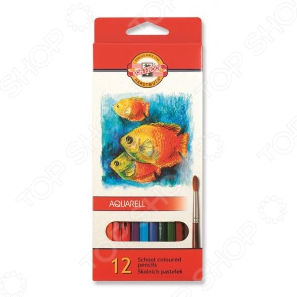Набор карандашей акварельных Koh-I-Noor «Рыбки»: 12 цветов