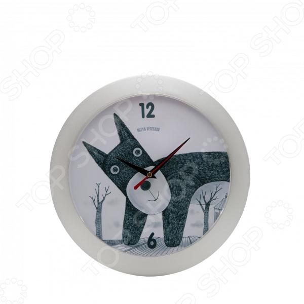 Часы настенные Mitya Veselkov «Плюшевый пес»Часы настенные<br>Настенные часы это элегантный и неотъемлемый элемент дизайна любого помещения. Правильно подобранные часы позволяют внести в общий интерьерный ансамбль некоторую изюминку и легкий штрих индивидуальности, собственного стиля. Поэтому к подбору такого значимого и функционального украшения надо подходить с умом. Настенные часы от отечественного бренда Mitya Veselkov станут настоящей находкой для тех, кто следит за трендами современной моды, любит постоянные перемены и предпочитает новаторские решения взамен обыденной классике. Часы настенные Mitya Veselkov Плюшевый пес отлично впишутся в интерьер вашей гостиной, спальни, кухни или детской комнаты. Корпус кварцевых часов выполнен из качественного пластика, который гарантирует не только их легкость, но и практичность, легкий монтаж и уход. Циферблат данной модели оформлен занимательным дизайнерским рисунком, который придется по душе поклонникам современного искусства. Оригинальный дизайн превратит часы в настоящий источник хорошего настроения. Создайте неповторимую атмосферу уюта и комфорта с необычными настенными часами Mitya Veselkov Плюшевый пес !<br>