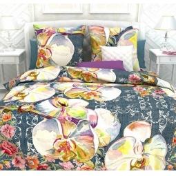 фото Комплект постельного белья Унисон «Царство орхидей». Семейный