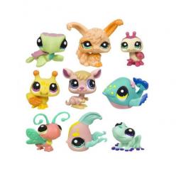 фото Набор игровой для девочек из 3 зверюшек Littlest Pet Shop. В ассортименте