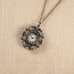 Купить Кулон-часы Mitya Veselkov «Вензельки со стразами»