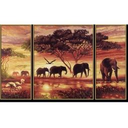 Купить Набор для рисования по номерам Schipper «Африканские слоны»