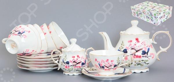 Чайный набор Elan Gallery «Райские птички» наборы кухонных принадлежностей elan gallery набор лопатка кисточка