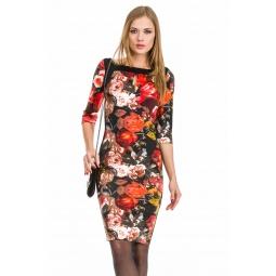 фото Платье Mondigo 5129. Цвет: черный. Размер одежды: 42