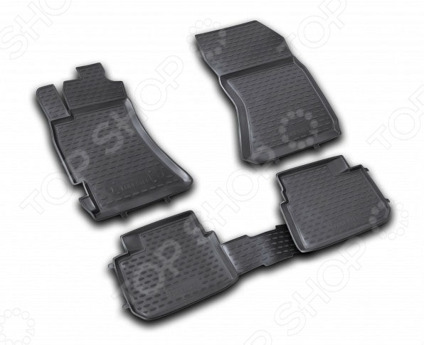 Комплект ковриков в салон автомобиля Novline-Autofamily Subaru Forester 2.5 XT 2008-2013Коврики в салон<br>Комплект ковриков в салон автомобиля Novline Autofamily Subaru Forester 2.5 XT 2008-2013 отличное решение для вашего автомобиля! Этот комплект не только улучшит внешний вид автомобильного салона, но и надежно защитит текстильное покрытие пола от пыли, грязи, сырости и всевозможных пятен. Гибкие, эластичные коврики выполнены из прочного и долговечного полиуретана, который отличается своими прекрасными эксплуатационными характеристиками. Этот материал не деформируется под воздействием высоких или низких температур, не рвется, не выгорает и не подвержен воздействию коррозии, УФ-лучей, бензина и прочих стойких реагентов. Благодаря тому, что форма ковриков разрабатывается с учетом всех особенностей кузова и пола автомобиля отдельной марки и модели, они идеально ложатся в салоне. Их не придется самостоятельно подрезать и подгибать. Другой особенностью комплекта является наличие фиксаторов, которые не позволяют коврикам двигаться во время езды. Защита от западания педали газа гарантирует безопасную и комфортную езду. Поверхность ковриков имеет антискользящий рельеф, который позволяет водить машину в обуви, где отсутствует протектор, например, в туфлях. Гигиенические сертификаты и строгий контроль качества используемых материалов гарантируют, что такие изделия будут совершенно безопасны для вашего здоровья. У них отсутствует неприятный запах, присущий дешевым и некачественным автомобильным коврикам. Преимуществом этого комплекта также можно считать простоту в уходе. Чтобы очистить коврики от налипшей грязи, пыли можно использовать привычные чистящие средства.<br>