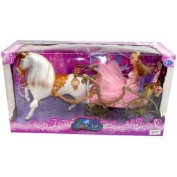 фото Набор игровой для девочки Shantou Gepai «Карета с лошадью, принцесса и аксессуары»