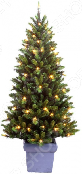Ель декоративная с подсветкой Edelman в горшочке «Звезда»Елки<br>Для многих из нас Новый Год является самым любимым и долгожданным праздником в году. Ведь это не просто подведение итогов, не просто конец старого и начало нового года это реальная возможность хоть ненадолго окунуться в волшебную зимнюю сказку. Не зря говорят, что чудеса случаются там, где в них верят и чем больше верят, тем чаще они случаются. Яркие елочные шары, долгожданные подарки, встречи с родными, свечи и разноцветные огни гирлянд что может быть чудесней Альтернатива живой ели Не секрет, что главным символом Нового Года является елка. Почти в каждой семье есть традиция ежегодно собираться и вместе наряжать украшать ее игрушками, бантами и разноцветным лентами. Выбор елок на сегодняшний день очень велик. Кто-то не мыслит праздника без аромата хвои и покупает живые деревья, а кто-то отдает предпочтение искусственным.  Ель декоративная с подсветкой Edelman Аврора это прекрасная альтернатива живой ели. Благодаря внешнему сходству и отличной проработке деталей, такие деревья год за годом набирают все большую популярность среди потребителей.  Это выгодно вам не придется покупать елку каждый год.  Это практично искусственная елка прослужит вам много лет.  Это не вредит экологии искусственные елки, а отличие от живых не требуют вырубки лесов.  Это безопасно иголки не будут осыпаться, так что никто не поранится особенно это актуально для семей, где есть маленькие дети.  Это красиво выглядит даже лучше, чем натуральная ель, которая зачастую лишена большого количества веточек и иголочек.  Ель Edelman Аврора отличается хорошей проработкой и великолепным качеством исполнения. Ее ветви выполнены ярусом, благодаря чему, дерево имеет не строгий геометрический силуэт и превосходно имитирует живую елочку. Хвоя мягкая, хорошо держит форму, не сминается, не колет руки и не разгорается при поджигании. Ель снабжена устойчивой металлической подставкой и LED-лампами теплого белого свечения.<br>