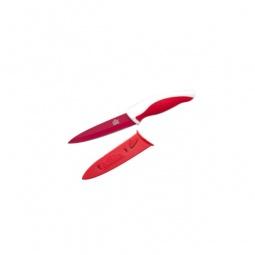 фото Нож Gipfel в пластиковом чехле. Цвет рукояти: красный