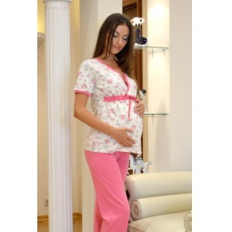 Купить Пижама для беременных Nuova Vita 207.4. Цвет: экрю