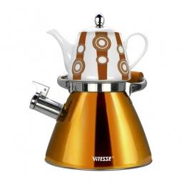 фото Чайный набор Vitesse Classic VS-7812. Цвет: оранжевый