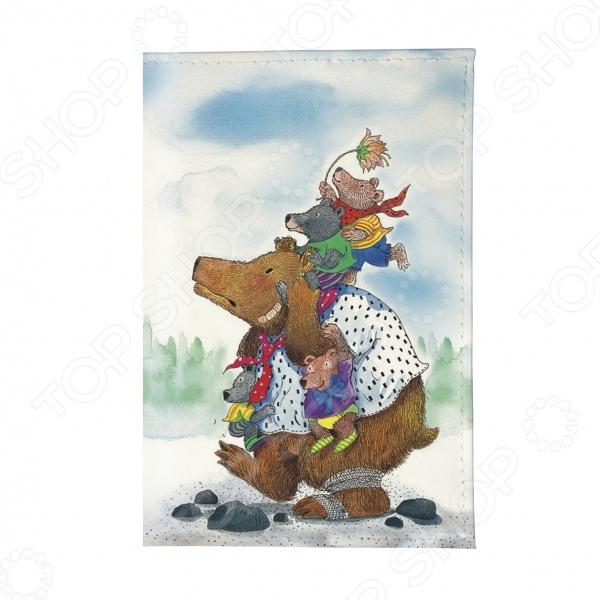 Обложка для автодокументов Mitya Veselkov «Медведица с медвежатами» незамерзающая жидкость белая медведица купить в перми