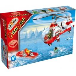 фото Конструктор Banbao Пожарный вертолет, 155 деталей