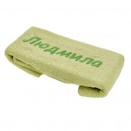 фото Полотенце подарочное с вышивкой TAC Людмила. Цвет: зеленый, светло-зеленый