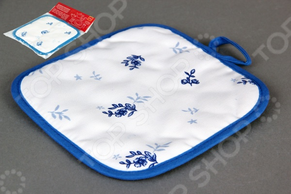 Прихватка Коралл «Флер»Кухонные полотенца. Прихватки<br>Прихватка Коралл Флер - полезный аксессуар, который необходим на любой кухне. Прихватка позволит защитить ваши руки от ожогов. Модель выполнена из качественных материалов, а благодаря изысканному дизайну - станет отличным дополнением любой кухни. Прихватка имеет петельку, поэтому ее можно подвешивать на крючок.<br>