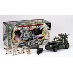 Купить Автомобиль военный радиоуправляемый с набором солдат Tongde В72196