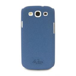 фото Крышка защитная LaZarr Soft Touch для Samsung Galaxy S3 i9300. Цвет: синий