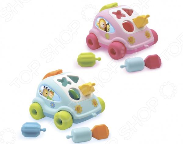 Игрушка-сортер развивающая Smoby «Автомобиль с фигурками». В ассортиментеСортеры<br>Товар продается в ассортименте. Цвет изделия при комплектации заказа зависит от наличия товарного ассортимента на складе. Игрушка-сортер развивающая Smoby Автомобиль с фигурками станет прекрасным подарком для любознательного малыша. Конструктивные особенности позволяют развивать мелкую моторику рук, тактильные ощущения и цветовое восприятие развивающегося ребенка. Кроме того, этот сортер может быть и каталкой! Игрушка выполнена из высококачественных нетоксичных материалов и не представляет опасности для ребенка.<br>