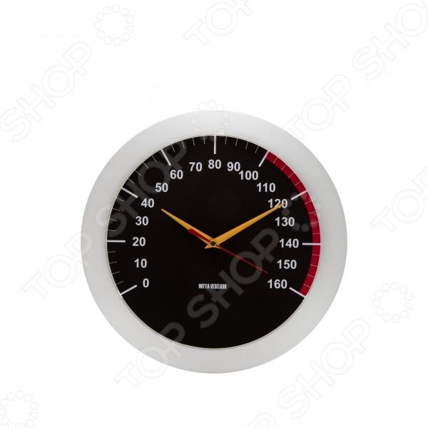 Часы настенные Mitya Veselkov «Спидометр»Часы настенные<br>Настенные часы это элегантный и неотъемлемый элемент дизайна любого помещения. Правильно подобранные часы позволяют внести в общий интерьерный ансамбль некоторую изюминку и легкий штрих индивидуальности, собственного стиля. Поэтому к подбору такого значимого и функционального украшения надо подходить с умом. Настенные часы от отечественного бренда Mitya Veselkov станут настоящей находкой для тех, кто следит за трендами современной моды, любит постоянные перемены и предпочитает новаторские решения взамен обыденной классике. Часы настенные Mitya Veselkov Спидометр отлично впишутся в интерьер вашей гостиной или детской комнаты. Корпус кварцевых часов выполнен из качественного пластика, который гарантирует не только их легкость, но и практичность, легкий монтаж и уход. Круглый циферблат надежно защищен прочным и качественным стеклом. Эксклюзивный дизайн часов позволит подчеркнуть оригинальность интерьера вашего дома и выразить вашу индивидуальность. Создайте неповторимую атмосферу уюта и комфорта с необычными настенными часами Mitya Veselkov Спидометр !<br>