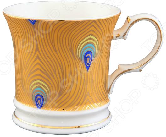 Кружка Elan Gallery «Павлиний глаз» 730402Кружки. Чашки<br>Кружка Elan Gallery Павлиний глаз 730402 изготовлена из высококачественной керамики и дополнена декоративным рисунком. Посуда из этого материала позволяет максимально сохранить полезные свойства и вкусовые качества воды. Заварите крепкий, ароматный чай или кофе в представленной модели, и вы получите заряд бодрости, позитива и энергии на весь день! Классическая форма и яркая цветовая гамма изделия позволят наслаждаться любимым напитком в атмосфере еще большей гармонии и эмоциональной наполненности. Преимущества кружки Elan Gallery Павлиний глаз 730402:  Изготовлена из керамики, что позволяет сохранить полезные свойства и вкусовые качества воды.  Украшена интересным рисунком.  Вмещает объем, равный 170 мл.  Подойдет в качестве подарка для ваших любимых, родных и близких. В кружке Elan Gallery Павлиний глаз 730402 любой напиток станет еще вкуснее!<br>