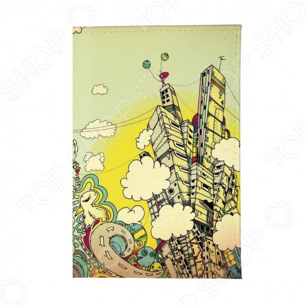 Обложка для паспорта Mitya Veselkov «Город фантазий»Обложки для паспортов<br>Mitya Veselkov Город фантазий это современная и ультрамодная обложка для вашего паспорта. Представленная модель предназначена для людей, которые хотят сделать жизнь ярче, красочней и к традиционным вещам подходят творчески. Изделие подходит как для внутреннего, так и заграничного удостоверения личности. Изготовленная из ПВХ обложка, надежно защитит важный документ от внешнего воздействия, поэтому он всегда будет как новый. Придайте паспорту оригинальности и подчеркните свою уникальность!<br>