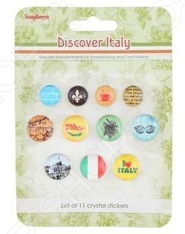 Камушки со стикером ScrapBerry's Итальянские каникулы