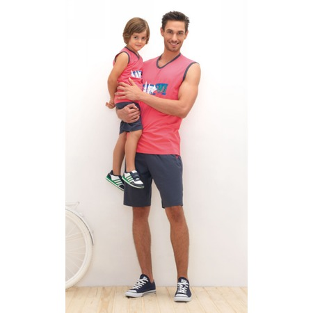 Купить Комплект летней домашней одежды для мальчика BlackSpade 7097. Цвет: ярко-розовый