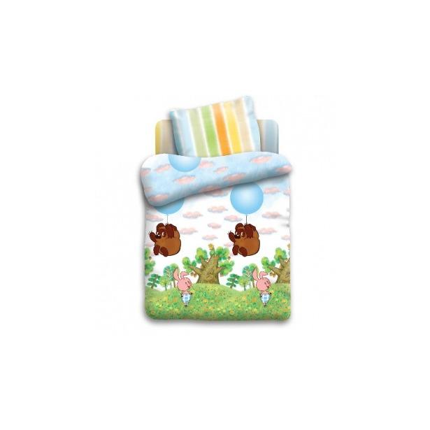 фото Детский комплект постельного белья Непоседа «Винни Пух на шарике»