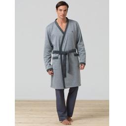 фото Халат мужской BlackSpade 7300. Цвет: серый меланж. Размер одежды: S-M