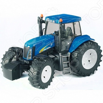Трактор игрушечный Bruder New Holland T8040 bruder игрушечный дровокол posch