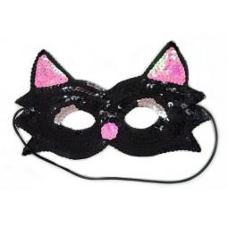 фото Маска карнавальная для девочки Новогодняя сказка «Кошка» 972139