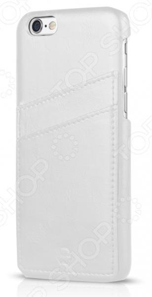 Чехол для iPhone 6 ITSKINS CorsaЗащитные чехлы для iPhone<br>Чехол для iPhone 6 ITSKINS Corsa надежно защитит ваш смартфон при повседневном использовании от грязи, пыли, царапин и потертостей. Представленная модель выполнена в виде защитной накладки, плотно прилегающей к боковым граням дорогостоящего девайса. Чехол изготовлен из качественных материалов и не скользит в руке, а лаконичный дизайн придает изделию стильный и модный вид. Чехол не блокирует какие-либо разъемы устройства, а потому не препятствует комфортному использованию. С наружной стороны расположены 2 отделения для кредитных карт или визиток. ITSKINS Corsa придаст телефону уникальный вид и подчеркнет вашу индивидуальность.<br>