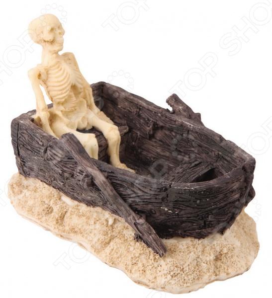 Декор для аквариума DEZZIE «Скелет в лодке»