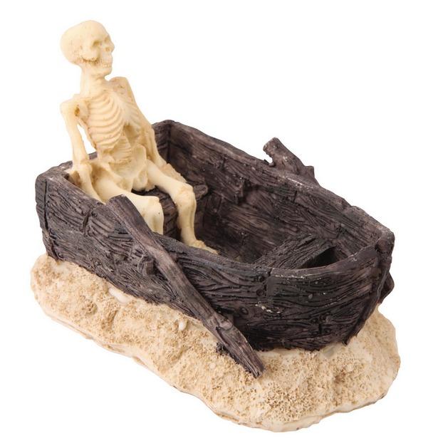 фото Декор для аквариума DEZZIE «Скелет в лодке»