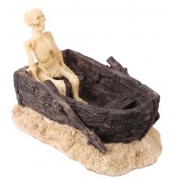 Купить Декор для аквариума DEZZIE «Скелет в лодке»