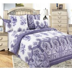 фото Комплект постельного белья Королевское Искушение «Гжель». 2-спальный. Размер простыни: 220х240 см