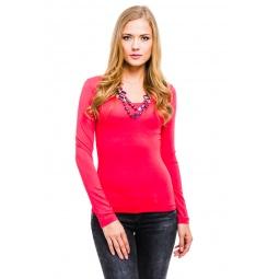 фото Кофта Mondigo 436. Цвет: ярко-розовый. Размер одежды: 44