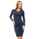 Фото Платье Mondigo 8670. Цвет: темно-серый. Размер одежды: 44