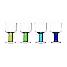 фото Набор бокалов Sagaform Club. Цвет: голубой, зеленый, салатовый, синий