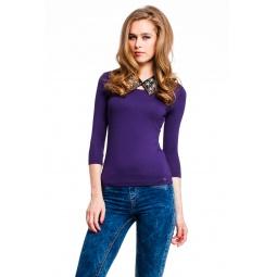 фото Кофта Mondigo 023. Цвет: темно-фиолетовый. Размер одежды: 46