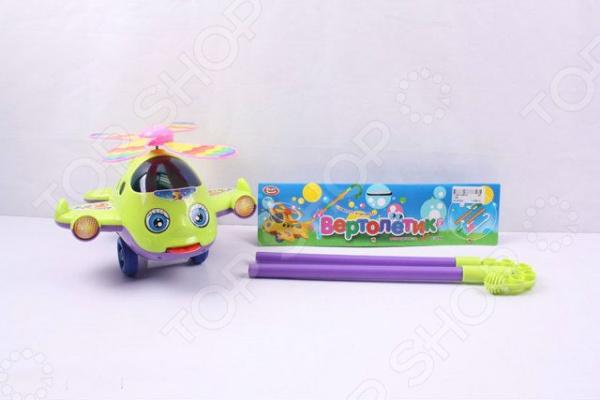 Игрушка-каталка для малыша PlaySmart «Вертолетик» Р40872Каталки для малышей<br>Игрушка-каталка для малыша PlaySmart Вертолетик Р40872 изготовлена из высококачественного пластика. Игрушку можно катить перед собой на палке, а также можно отдельно снять вертолет и поиграть с ним. Во время ходьбы, у вертолета, крутится пропеллер, закрываются и открываются глаза, а также высовывается язык. Игрушка развивает у ребенке фантазию и логику, а прогулки с каталкой выправляют осанку.<br>