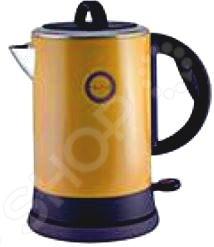 Чайник Великие реки Чая-7АЧайники электрические<br>Чайник Великие реки Чая-7А станет отличным дополнением к набору вашей мелкой бытовой техники для кухни. Электрический чайник это прекрасная альтернатива обычному. Среди явных преимуществ можно отметить безопасность использования и значительную экономию времени; вода в таких чайниках закипает за считанные минуты. Корпус чайника выполнен из высококачественной нержавеющей стали. Модель снабжена широкой горловиной, съемной ручкой и эргономичной ручкой.<br>