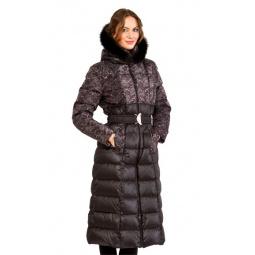 фото Пуховое пальто Sirenia Одри. Цвет: черный. Размер одежды: 48