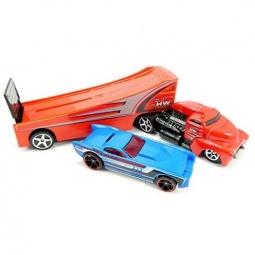фото Набор машинок: трейлер-тягач и гоночная Mattel BDW59 «Rock N Race»