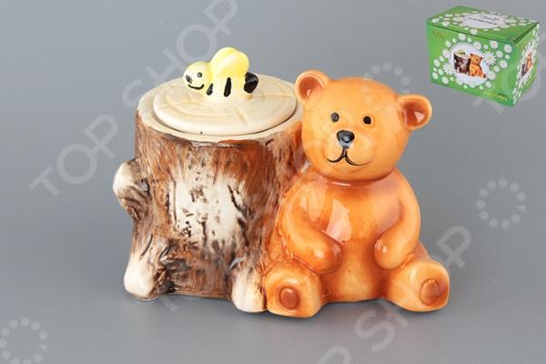 фото Горшочек для меда Elan Gallery «Мишка с пеньком», Банки для мёда. Розетки