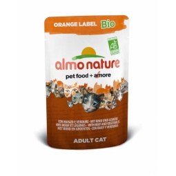 Купить Корм влажный для кошек Almo Nature Orange Label Bio Adult with Beef and Vegetables