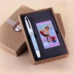 фото Набор подарочный: ручка и визитница Феникс-Презент 28466