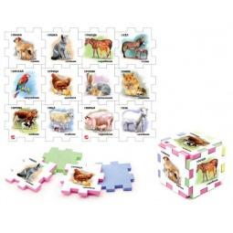 фото Пазл-кубик Нескучный кубик «Домашние животные»: 2 шт