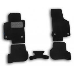 Комплект ковриков в салон автомобиля Novline-Autofamily Nissan Navara 2010 пикап. Цвет: черный - фото 7