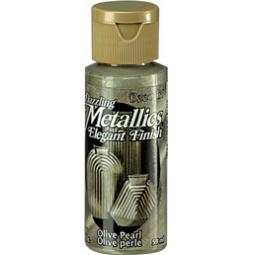 фото Краска акриловая перламутровая DecoArt Dazzling Metallics. Цвет: оливковый