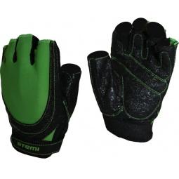 фото Перчатки для фитнеса Atemi AFG-06. Цвет: зеленый, черный. Размер: XS